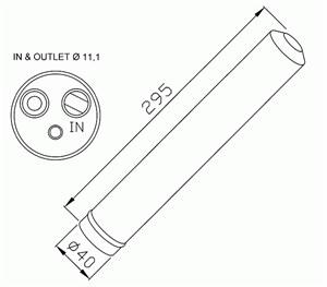 Reservdel:Mercedes Sprinter Torkfilter, Fram
