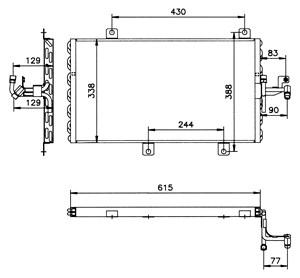 Reservdel:Fiat Tipo Kondensor, klimatanläggning