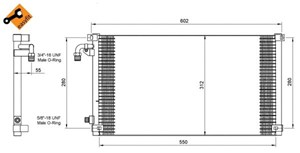 Kondensor, klimatanläggning. AC / ACC-utrustning - Kondensor, klimatanläggning från