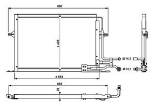 Reservdel:Ford Mondeo Kondensor, klimatanläggning