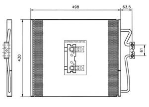 Reservdel:Bmw 740 Kondensor, klimatanläggning
