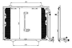 Reservdel:Mercedes Clk 200 Kondensor, klimatanläggning