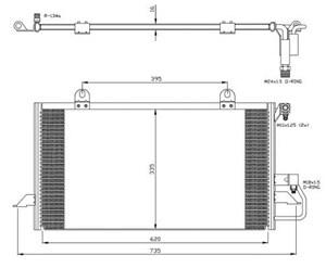Reservdel:Audi 80 Kondensor, klimatanläggning
