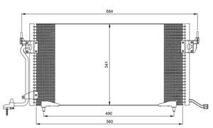 Reservdel:Citroen Zx Kondensor, klimatanläggning