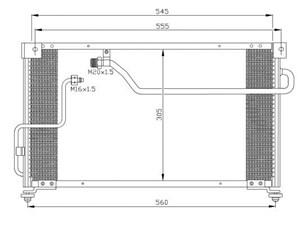 Reservdel:Mazda 626 Kondensor, klimatanläggning