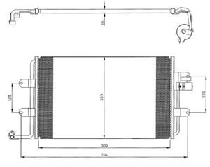 Reservdel:Volkswagen Beetle Kondensor, klimatanläggning