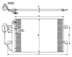 Reservdel:Mercedes A 190 Kondensor, klimatanläggning