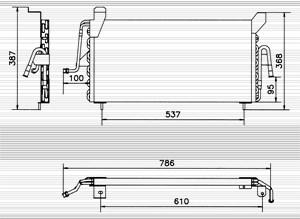 Reservdel:Ford Escort Kondensor, klimatanläggning