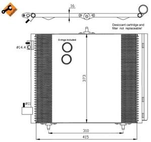 Reservdel:Citroen C3 Kondensor, klimatanläggning