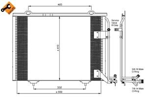 Reservdel:Mercedes Slk 230 Kondensor, klimatanläggning