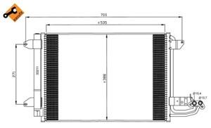 Reservdel:Seat Altea Kondensor, klimatanläggning
