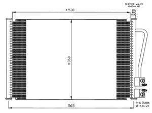 Reservdel:Ford Fusion Kondensor, klimatanläggning
