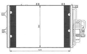 Reservdel:Opel Combo Kondensor, klimatanläggning