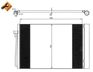 Reservdel:Bmw 523 Kondensor, klimatanläggning