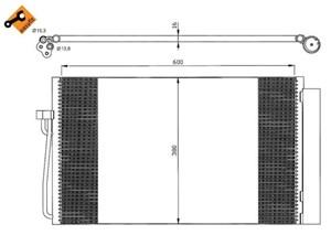 Reservdel:Bmw 745 Kondensor, klimatanläggning