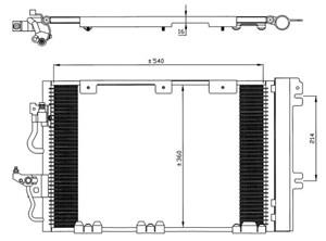 Reservdel:Opel Zafira Kondensor, klimatanläggning
