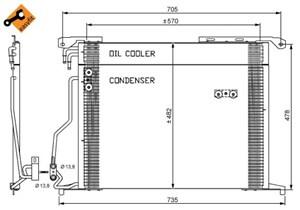 Reservdel:Mercedes S 400 Kondensor, klimatanläggning