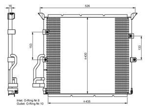 Reservdel:Bmw Z3 Kondensor, klimatanläggning