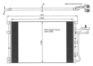 Reservdel:Volvo C30 Kondensor, klimatanläggning