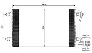 Reservdel:Volkswagen Lt 28-46 Kondensor, klimatanläggning