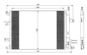 Reservdel:Volvo V70 Kondensor, klimatanläggning