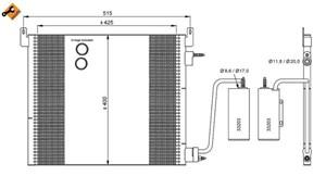 Reservdel:Saab 9-3 Kondensor, klimatanläggning