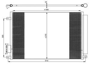 Reservdel:Fiat 500 Kondensor, klimatanläggning