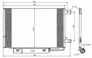 Reservdel:Mercedes A 180 Kondensor, klimatanläggning