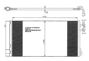 Reservdel:Bmw 316 Kondensor, klimatanläggning