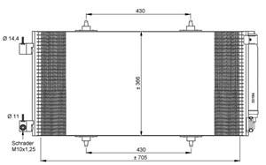 Reservdel:Citroen C8 Kondensor, klimatanläggning
