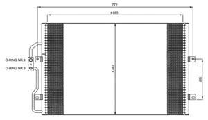 Reservdel:Citroen Evasion Kondensor, klimatanläggning