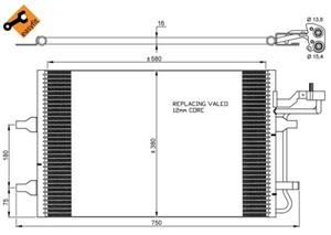 Reservdel:Volvo C70 Kondensor, klimatanläggning
