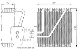 Reservdel:Ford Galaxy Förångare, klimatanläggning, Fram