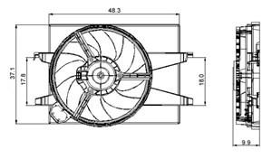 Reservdel:Ford Fusion Fläkt, kylare