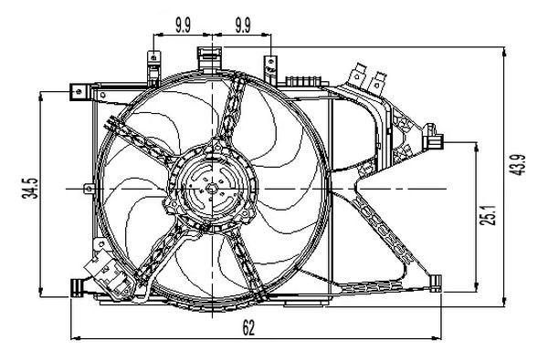 Fan Radiator Vauxhall Opel Oe 1314445 1341354 24421234