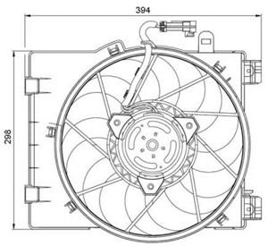 Reservdel:Opel Combo Fläkt, kylare