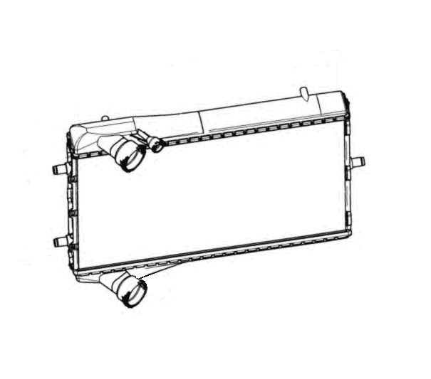 radiator  engine cooling  left - porsche