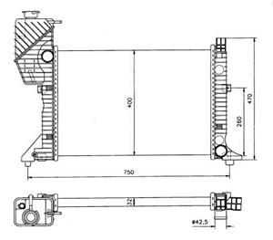 Reservdel:Mercedes Sprinter Kylare, motorkylning