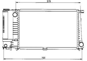 Reservdel:Bmw 520 Kylare, motorkylning