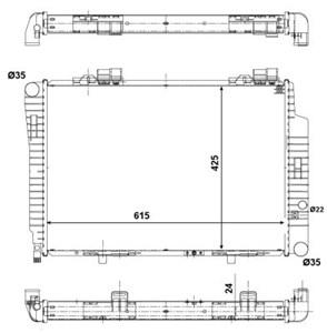 Reservdel:Mercedes Slk 230 Kylare, motorkylning