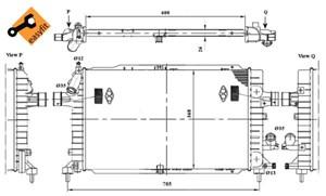 Reservdel:Opel Zafira Kylare, motorkylning