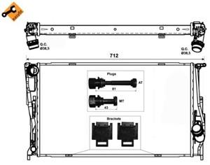Reservdel:Bmw 320 Kylare, motorkylning