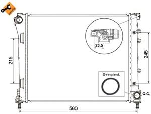 Reservdel:Fiat 500 Kylare, motorkylning