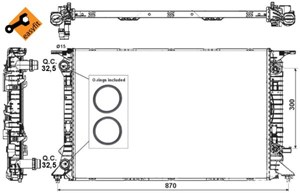 Reservdel:Audi Q5 Kylare, motorkylning