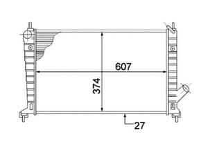 Reservdel:Saab 9-5 Kylare, motorkylning