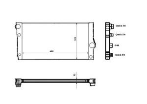 Reservdel:Bmw 740 Kylare, motorkylning