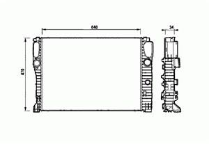 Reservdel:Mercedes E 280 Kylare, motorkylning