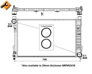 Reservdel:Mercedes C 180 Kylare, motorkylning