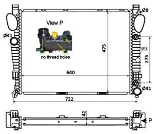 Reservdel:Mercedes S 500 Kylare, motorkylning