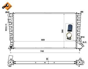 Reservdel:Peugeot 306 Kylare, motorkylning